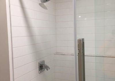 tiled shower renovation